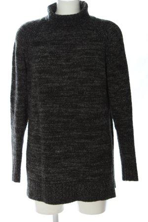 Zara Rollkragenpullover hellgrau-weiß Casual-Look