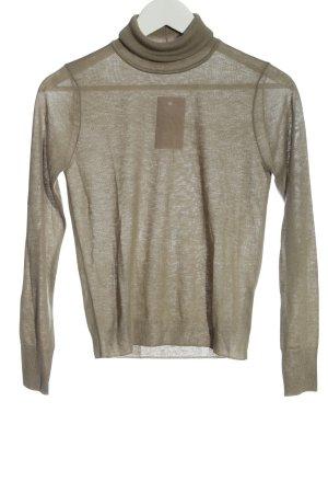 Zara Rollkragenpullover khaki schlichter Stil