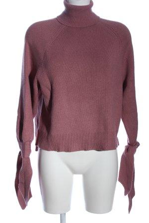 Zara Rollkragenpullover pink Casual-Look