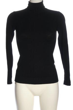 Zara Rollkragenpullover schwarz Casual-Look