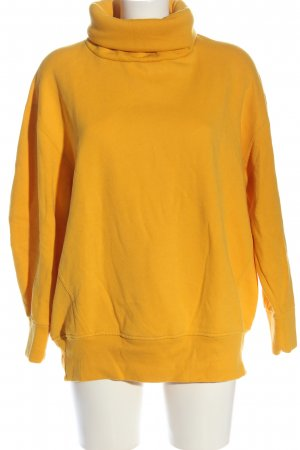 Zara Jersey de cuello alto naranja claro look casual