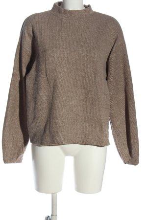 Zara Maglione dolcevita marrone stile casual