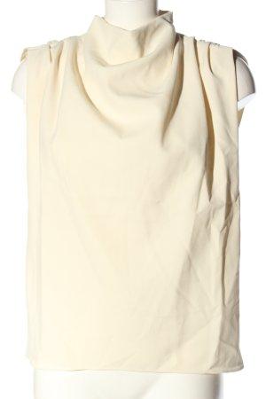 Zara Koszulka z golfem kremowy W stylu casual