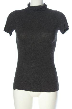 Zara Camisa de cuello de tortuga gris claro moteado look casual