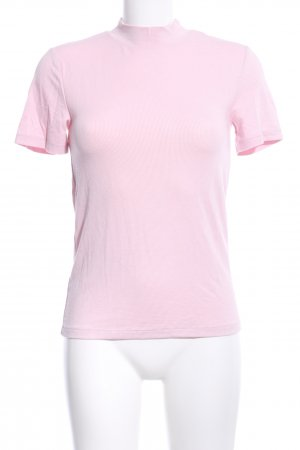 Zara Camisa de cuello de tortuga rosa look casual