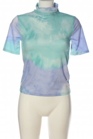 Zara Turtleneck Shirt turquoise-lilac color gradient casual look