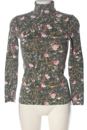 Zara Turtleneck Shirt allover print casual look
