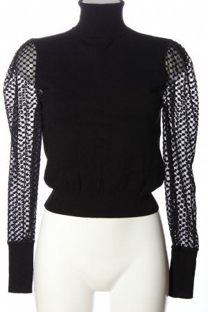 Zara Maglia a collo alto nero stile professionale