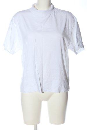 Zara Camisa de cuello de tortuga blanco look casual