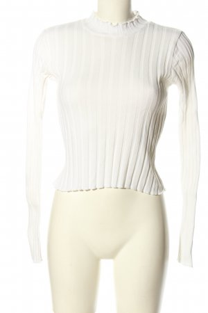Zara Top à col roulé blanc style décontracté