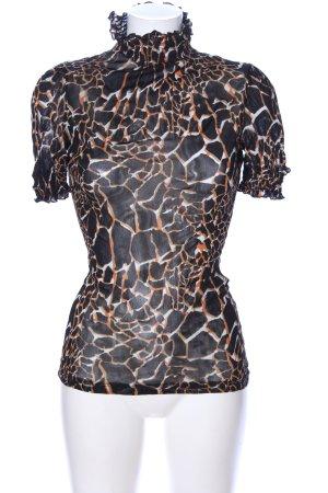 Zara Camisa de cuello de tortuga estampado repetido sobre toda la superficie