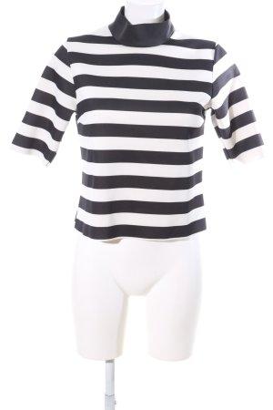 Zara Colshirt zwart-wit volledige print casual uitstraling