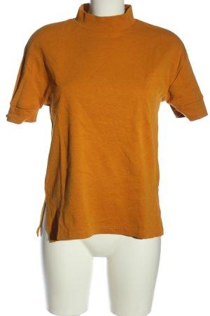 Zara Maglia a collo alto arancione chiaro motivo a righe stile casual