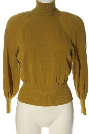 Zara Maglia a collo alto cachi stile casual