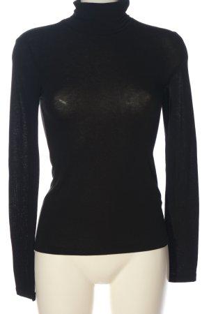 Zara Colshirt zwart casual uitstraling