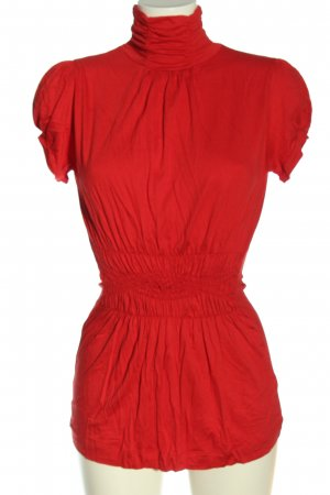 Zara Rollkragenshirt rot Elegant