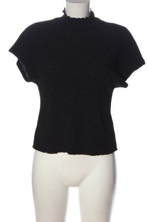Zara Top à col roulé noir style décontracté