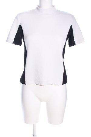 Zara Camisa de cuello de tortuga blanco-negro look casual