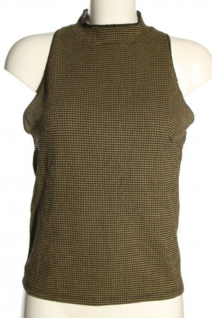 Zara Neckholder Top black-primrose check pattern casual look