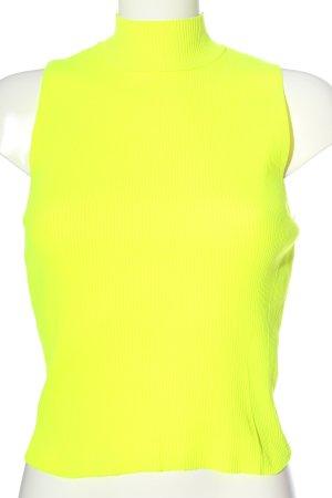 Zara Top con colletto arrotolato giallo pallido stile casual