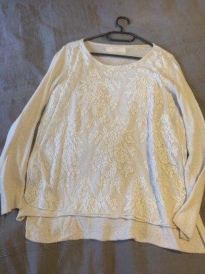 Zara Sweter bez rękawów z cienkiej dzianiny biały