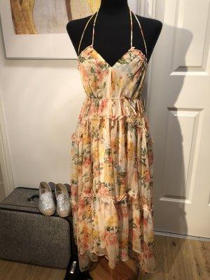 Zara ❤️ romantisches Kleid Midikleid Rosen ❤️ M L 38 40