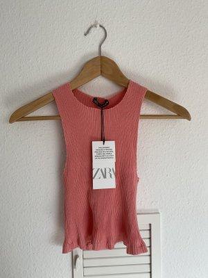 Zara Cropped top roze-neonroos