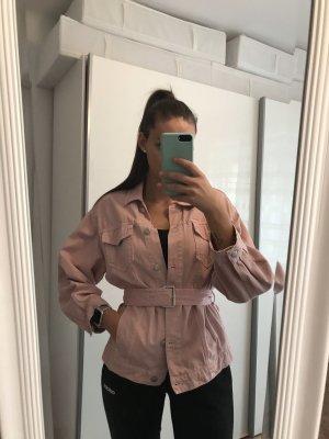 ZARA rosa Oversize-Jeansjacke