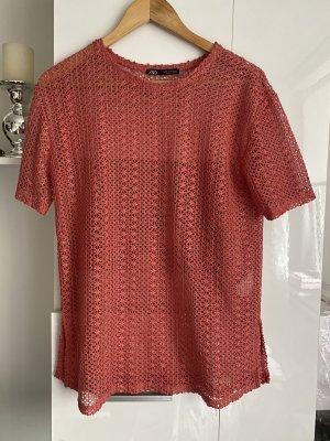 Zara rosa t-Shirt Strick M38