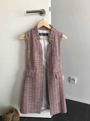 Zara Smanicato lavorato a maglia rosa-rosa