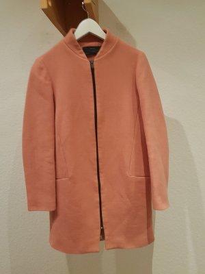 Zara rosefarbener Mantel Größe 38