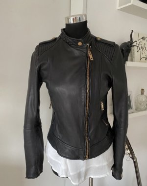 Zara rosegold Lederjacke schwarz 38 top M Lederjacke bikerjacke Gigi Hadid