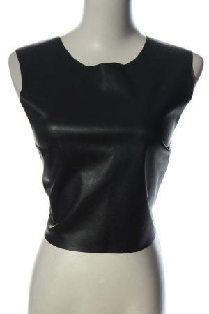 Zara Blusa sin espalda negro look casual