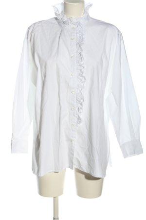 Zara Ruffled Blouse white business style