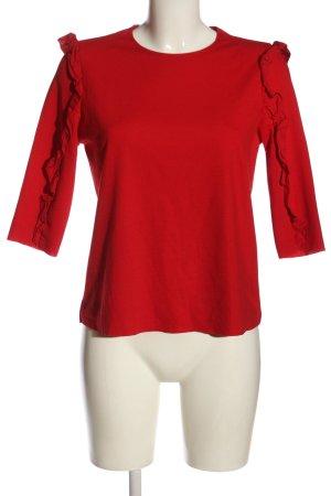Zara Rüschen-Bluse rot Casual-Look