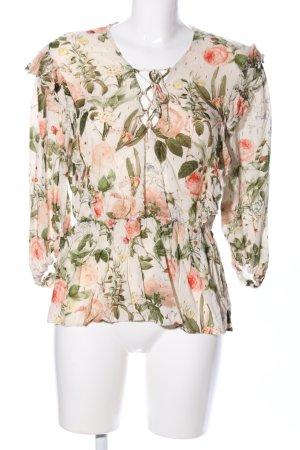 Zara Rüschen-Bluse Blumenmuster Casual-Look