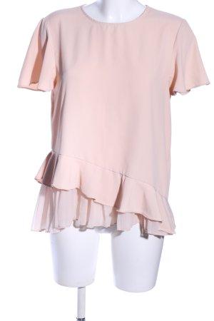 Zara Ruche blouse roze casual uitstraling