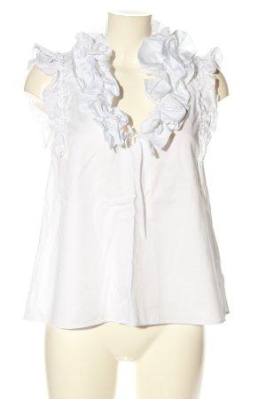 Zara Rüschen-Bluse weiß Elegant