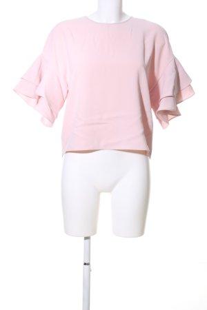 Zara Rüschen-Bluse pink Casual-Look