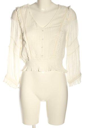 Zara Camicetta con arricciature bianco sporco elegante