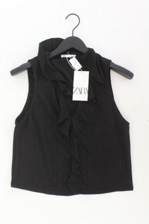 Zara Rüschenbluse Größe L neu mit Etikett Ärmellos schwarz aus Polyester