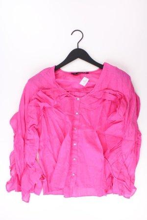 Zara Rüschenbluse Größe XS Langarm pink aus Baumwolle