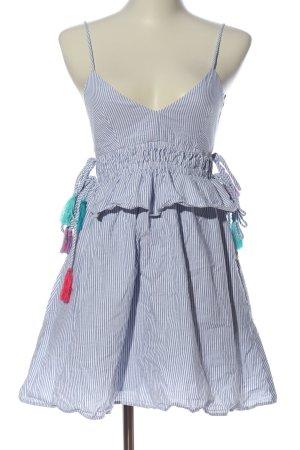 Zara Minikleid blau-weiß Streifenmuster Casual-Look