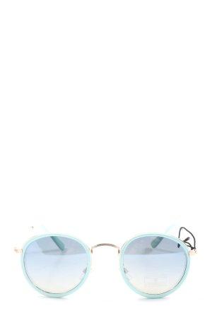 Zara Lunettes de soleil rondes turquoise style décontracté