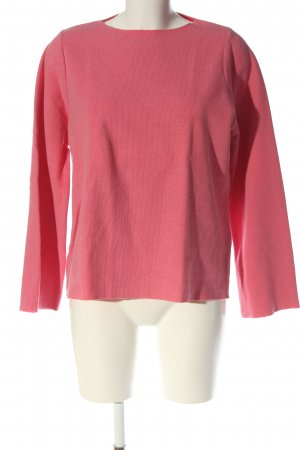 Zara Rundhalspullover pink Zopfmuster Casual-Look