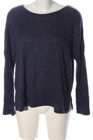 Zara Feinstrickpullover blau Casual-Look
