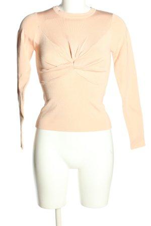 Zara Sweter z okrągłym dekoltem kremowy W stylu casual