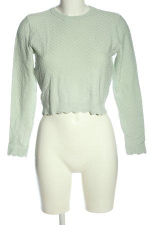 Zara Rundhalspullover grün Allover-Druck Casual-Look