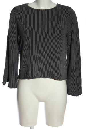 Zara Feinstrickpullover hellgrau-schwarz Streifenmuster Casual-Look