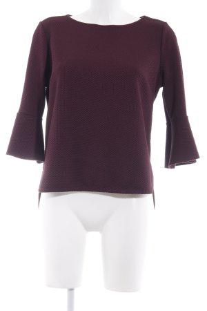 Zara Rundhalspullover braunviolett Elegant